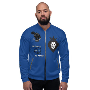 BLM Series - No Justice No Peace Blue Bomber Jacket