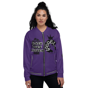 Black Lives Matter Series For Queens Purple Bomber Jacket