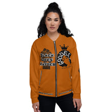 Load image into Gallery viewer, Black Lives Matter Series For Queens Caramel Bomber Jacket