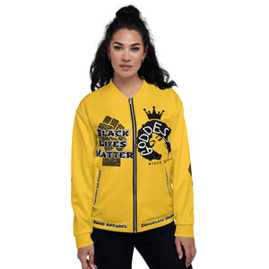 Black Lives Matter Series For Queens Yellow Bomber Jacket