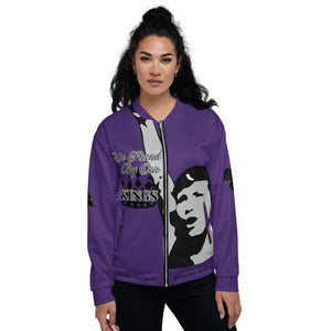 BLM Series- We Stand By Our Kings Purple Bomber Jacket
