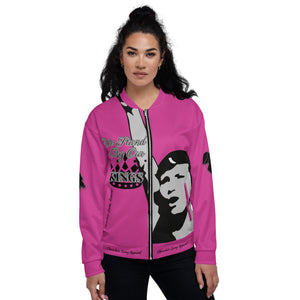 BLM Series- We Stand By Our Kings Pink Bomber Jacket