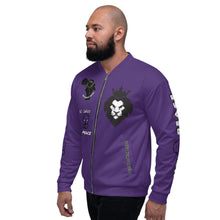 Load image into Gallery viewer, BLM Series - No Justice No Peace Purple Bomber Jacket