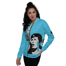 Load image into Gallery viewer, BLM Series- We Stand By Our Kings Calypso Blue Bomber Jacket