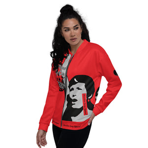 BLM Series- We Stand By Our Kings Red Bomber Jacket