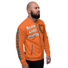 Load image into Gallery viewer, Black Lives Matter Series Orange Bomber Jacker