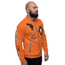 Load image into Gallery viewer, BLM Series - No Justice No Peace Orange Bomber Jacket