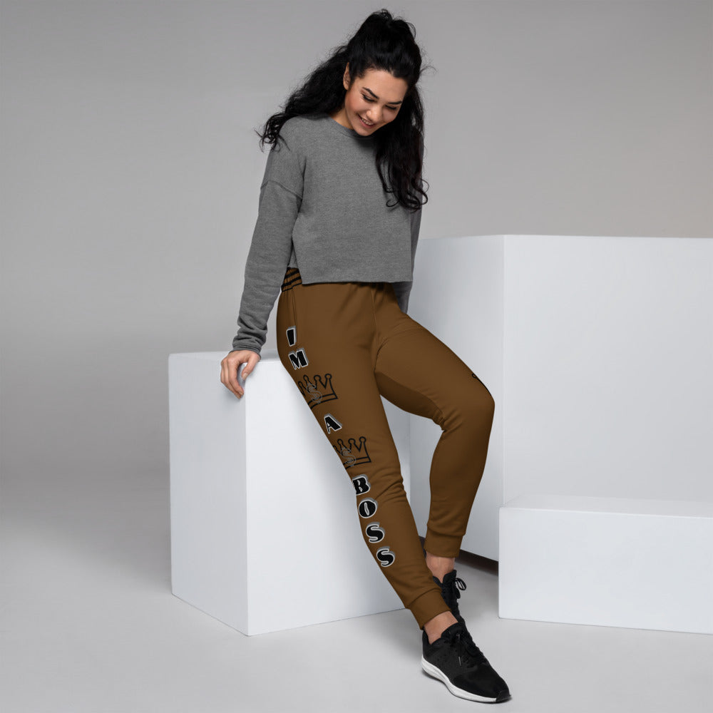Women's I'm A Boss Chocolate Joggers