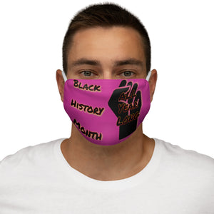 Black History Month Series Pink Face Mask