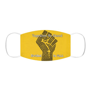 BLM Series - Together We Stand Yellow Face Mask