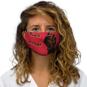 Black History Month Series Red Face Mask