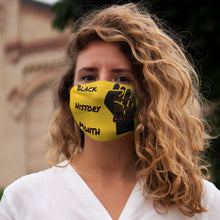 Load image into Gallery viewer, Black History Month Series Yellow Face Mask