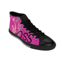 Load image into Gallery viewer, Boss Lady Women's Pink High-top Sneakers