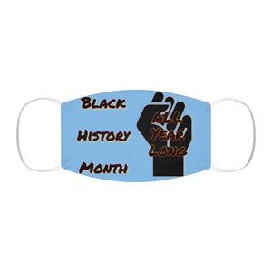 Black History Month Series Powder Blue Face Mask