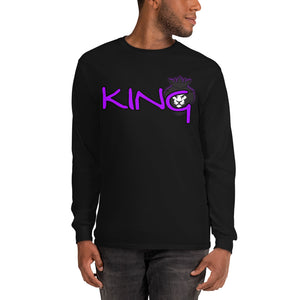 King Series Purple Print Long Sleeve Shirt