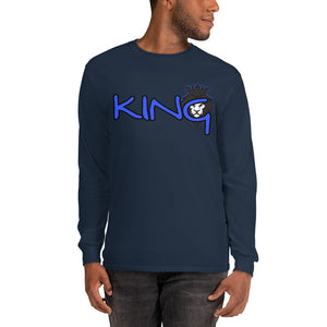 King Series Blue Print Long Sleeve Shirt