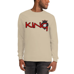 King Series Red Print Long Sleeve Shirt