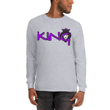 Load image into Gallery viewer, King Series Purple Print Long Sleeve Shirt