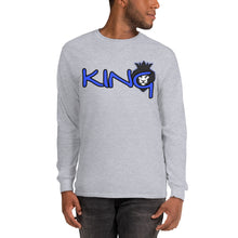 Load image into Gallery viewer, King Series Blue Print Long Sleeve Shirt