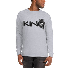 Load image into Gallery viewer, King Series Black Print Long Sleeve Shirt