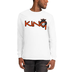 King Series Orange Print Long Sleeve Shirt