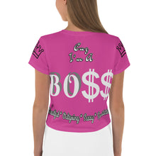 Load image into Gallery viewer, Boss Lady Crop Tee