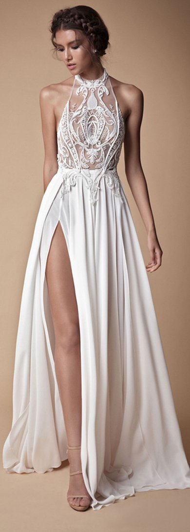 Simple white promdress