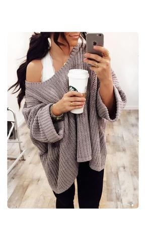 High loose knited sweater