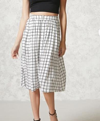 black and white longskirt