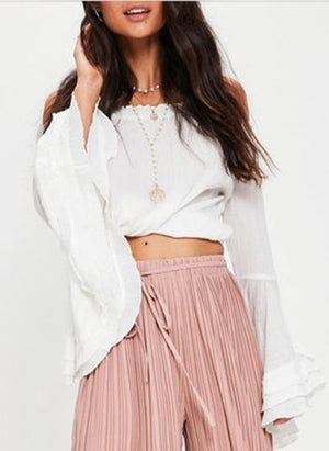 V off the shoulder blouse