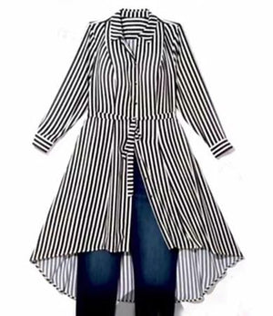 stripe long shirt