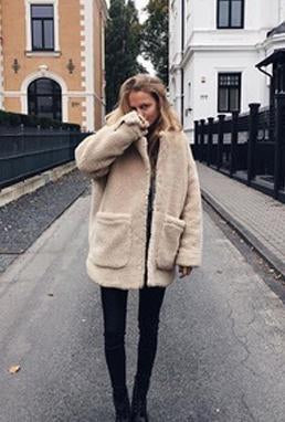 Lamb Wool Jacket Coat