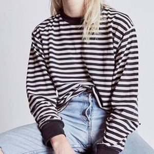 Cute Baggy Striped Shirt