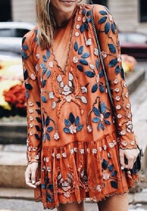 Flow Embroidered dress
