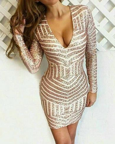 Gold strip dress