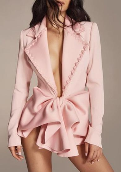 Bow blouses coat formal dress