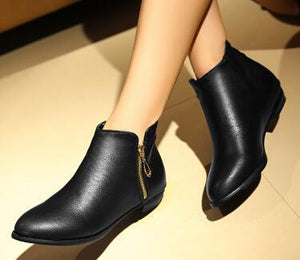 The ankle boots flat heel boots