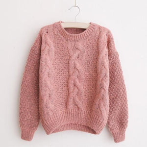 O-Neck Knitting Pullover