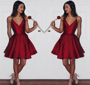 Homecoming Burgundy formal dress