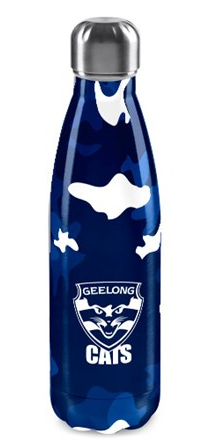 Stainless Steel Drink Bottle - Geelong Cats