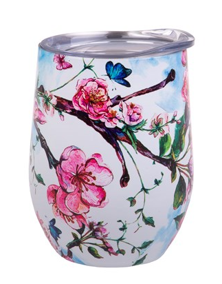 Oasis S/S Insulated 330ml Wine Tumbler - Spring Blossom