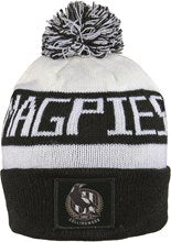 Bar Beanie - Collingwood Magpies