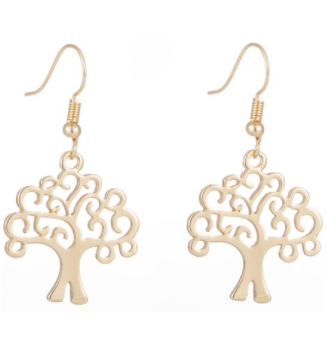 Tree of Life Earrings - Gold