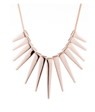 Collar Necklace - Rose Gold