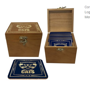 Set 4 Cork Coasters - Geelong Cats