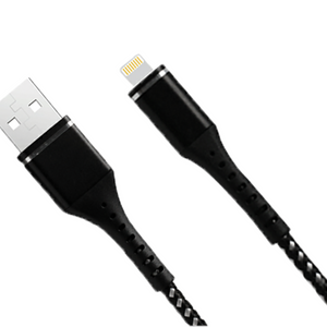 Heavy Duty Braided iPhone Cable - 1.2m Black