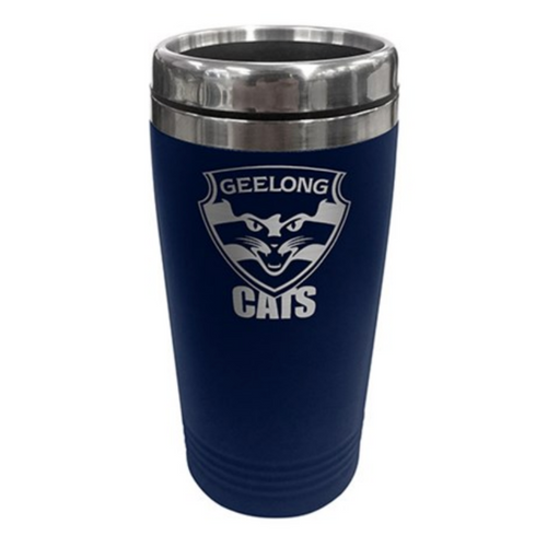 Stainless Steel Travel Mug - Geelong Cats