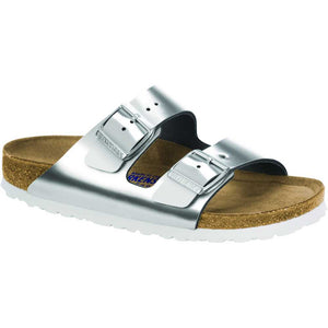 Birkenstock Arizona Soft Footbed - Narrow - Silver