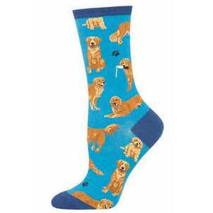 Sock Smith Golden Retriever - Blue