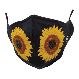 Sock Smith Sunflower Mask - Black